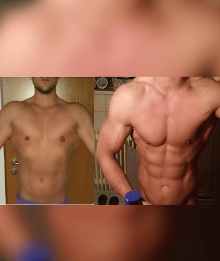 Volumendiät für Männer von 80 Kilo